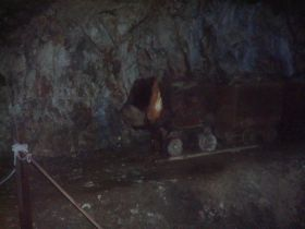 INSIDE THE MINE - ON THE TRAIN